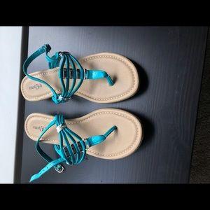 EAST 5th Turquoise Thong Sandel Women